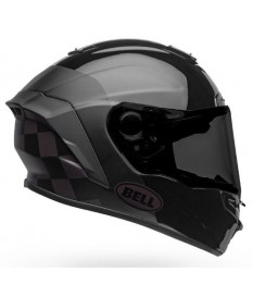 Casco Bell Star Mips DLX Checkers Matt Gloss Black