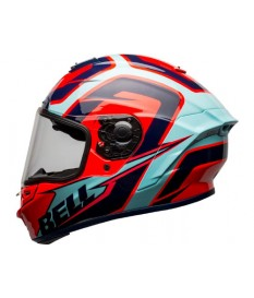 Casco Bell Star Mips DLX Labyrinth Blue Red