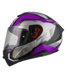 Casco NZI Trendy Metal Black Purple