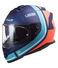 Casco LS2 FF800 Storm Slant Matt Blue Orange