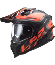 Casco LS2 MX701 Explorer Alter Matt Black Orange