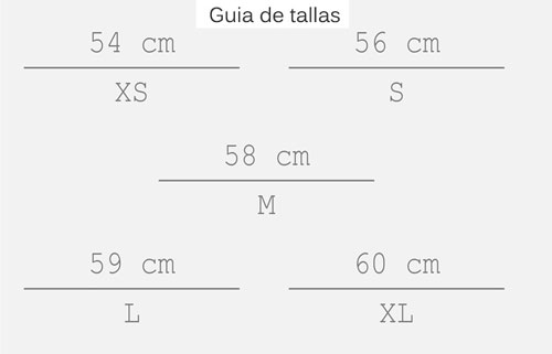 GUIA TALLAS CASCO DMD ROCKET